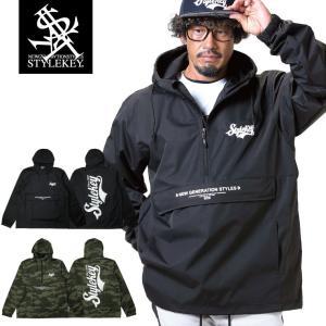 【SALE Mのみ】STYLEKEY(スタイルキー) アノラックジャケット SPLENDOR ANORAK JACKET(SK19FW-JK02) ストリート系 ヒップホップ レゲエ B系|b-bros