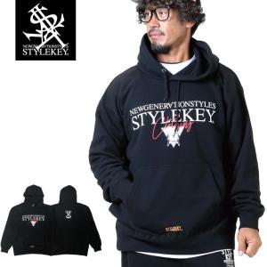【SALE Mのみ】STYLEKEY(スタイルキー) スウェットパーカー TRIAL HOOD SWEAT(SK19FW-SWH01) ストリート系 B系 ヒップホップ|b-bros