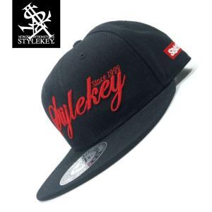 STYLEKEY(スタイルキー) スナップバックキャップ SCRIPT LOGO SNAPBACK CAP(SK19SP-CP02) ストリート系 B系 大きいサイズ BLACK ブラック 黒 レッド 赤|b-bros