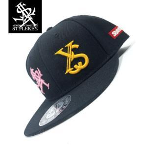 STYLEKEY(スタイルキー) スナップバックキャップ IMAGINATION SNAPBACK CAP(SK19SP-CP03) ストリート系 B系 大きいサイズ BLACK ブラック 黒|b-bros