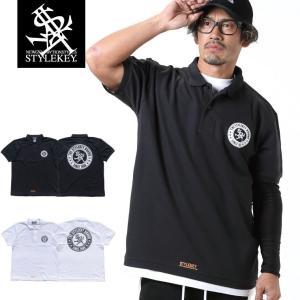 STYLEKEY スタイルキー ポロシャツ CIRCLE LOGO 鹿の子 S/S POLO(SK19SP-PL01) ストリート系 B系 大きいサイズ|b-bros