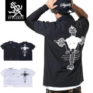 STYLEKEY スタイルキー ポロシャツ ADVENT 鹿の子 S/S POLO(SK19SP-PL02) ストリート系 B系 大きいサイズ|b-bros