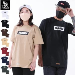 STYLEKEY(スタイルキー) 半袖Tシャツ BOX LOGO S/S TEE(SK19SP-SS03) ストリート系 B系 大きいサイズ|b-bros