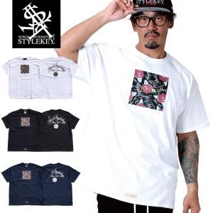 STYLEKEY スタイルキー 半袖Tシャツ PRESENTS S/S TEE(SK19SP-SS13) ストリート系 B系 大きいサイズ|b-bros