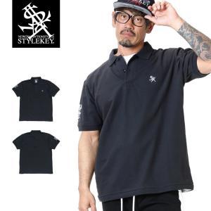 STYLEKEY スタイルキー ポロシャツ ROYAL POINT 鹿の子 S/S POLO(SK19SU-PL02) ストリート系 B系 大きいサイズ|b-bros