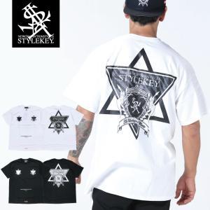 STYLEKEY スタイルキー 半袖Tシャツ HEXAGON S/S TEE(SK19SU-SS07) ストリート系 B系 大きいサイズ|b-bros