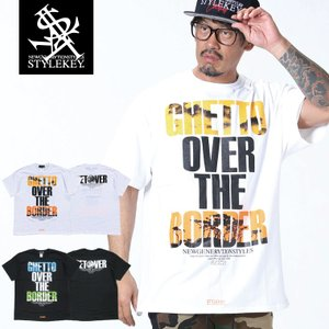 STYLEKEY スタイルキー 半袖Tシャツ OVER THE BORDER S/S TEE(SK19SU-SS12) ストリート系 B系 大きいサイズ|b-bros