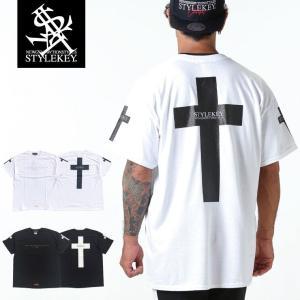 STYLEKEY スタイルキー 半袖Tシャツ CROSS BORN S/S TEE(SK19SU-SS17) ストリート系 B系 大きいサイズ|b-bros