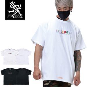 STYLEKEY スタイルキー 半袖Tシャツ WEALTH S/S TEE(SK21SP-SS07) ストリートファッション ヒップホップ レゲエ ダンス B系 カラフル ロゴ 刺繍 大きいサイズ|b-bros