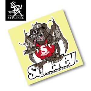 STYLEKEY スタイルキー ステッカー ZOMBIE DRAGON STICKER(SK99AL-ST03) ストリート B系 スケート ステッカー シール ゾンビ ドラゴン PP加工|b-bros