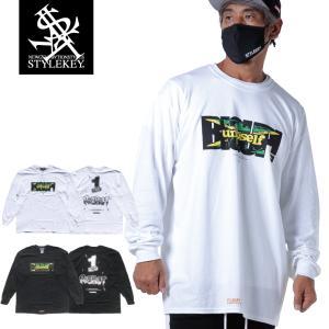 STYLEKEY CLASSIC LABEL(スタイルキー クラシック・レーベル) 長袖Tシャツ BIG UP L/S TEE(SK99CL-LS05) ロンT ストリート レゲエ  大きいサイズ|b-bros
