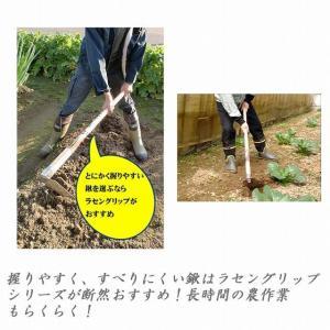昇龍の鋼 ラセングリップ柄 ステン菜園鍬1200 201307|b-bselect|03
