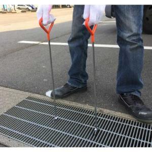 グレーチング専用フック 一般用(隙間15mmまで) (ジョレン,清掃用具,清掃用品,清掃機)