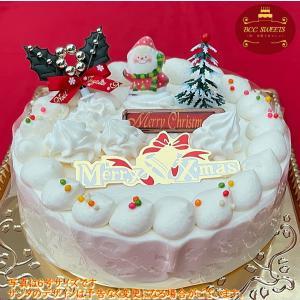 クリスマスケーキ 苺姫デコ 生クリーム 6号 2017年 18cm ホールケーキ|b-c-c