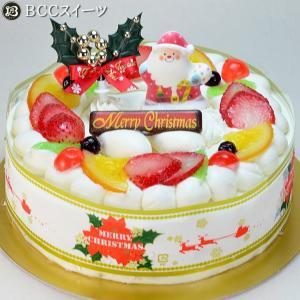クリスマスケーキ リース 生クリーム 6号 2017年 18cm ホールケーキ|b-c-c