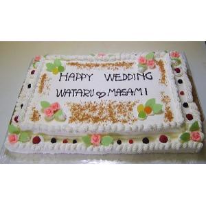 ウエディングケーキNo,181/オーダー2段ケーキ/パーティーケーキ|b-c-c