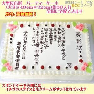 バースデーケーキNo,1841/大きいケーキ長方形47cm×31cm誕生日ケーキ/パーティーケーキ|b-c-c