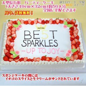 バースデーケーキNo,1892/大きいケーキ長方形47cm×31cm創立記念祝いケーキ/大きいケーキ|b-c-c