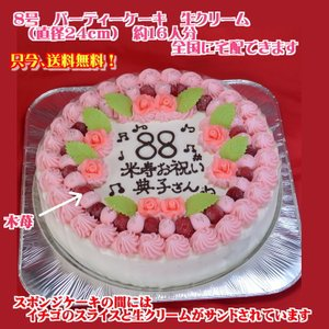 バースデーケーキNo,1381/オーダーケーキ8号/誕生日ケーキ/パーティーケーキ|b-c-c
