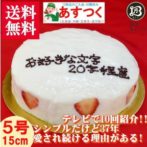 誕生日ケーキ バースデーケーキ メッセージ 大阪ヨーグルトケーキ5号 15cm|b-c-c