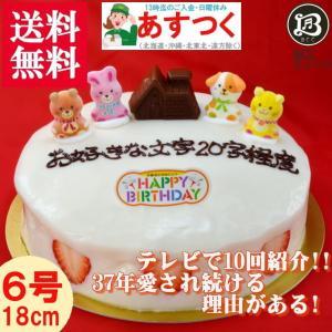 誕生日ケーキ バースデーケーキ チョコハウス飾り付 大阪ヨーグルトケーキ6号 18cm|b-c-c