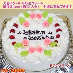 バースデーケーキNo,132/オーダーケーキ8号/誕生日ケーキ/パーティーケーキ|b-c-c