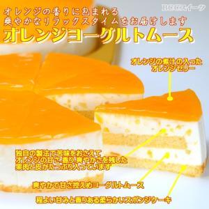 誕生日ケーキ バースデーケーキ プレート付 オレンジヨーグルトムースケーキ5号 15cm b-c-c 02