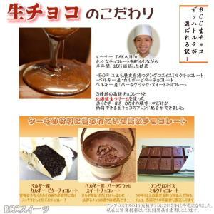 バレンタインデー BCC 生チョコザッハトルテ チョコレートケーキ5号 15cm(リボンデコ|b-c-c|02