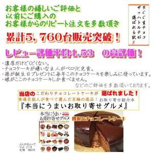 バレンタインデー BCC 生チョコザッハトルテ チョコレートケーキ5号 15cm(リボンデコ|b-c-c|06
