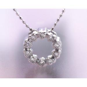 ネックレス ダイヤモンド 0.10ct K18ホワイトゴールド 4月誕生石|b-ciao