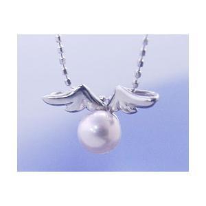 ネックレス パール 真珠 天使の贈り物真珠 パール K18ホワイトゴールド 6月誕生石|b-ciao