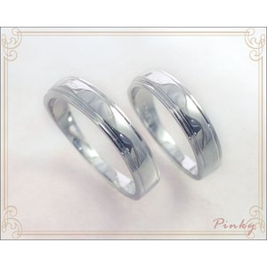 K10WG ペアピンキーリング シェリール ミラー仕上げ 薬指の細いカップルのペアリングにもOK国産 日本製|b-ciao