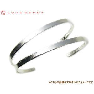 LOVE DEPOT ラヴディーポ シルバー950 ペアブレスレット バングル DPB01-007Ax2 文字1行 ペア 2本 セット価格代引き不可|b-ciao