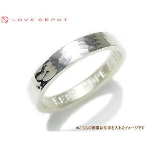 LOVE DEPOT ラヴディーポ シルバー950 リング DPR01-005A 文字1行代引き不可|b-ciao