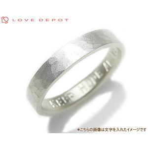LOVE DEPOT ラヴディーポ シルバー950 リング DPR01-005B 文字1行代引き不可|b-ciao