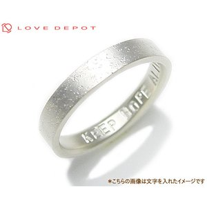 LOVE DEPOT ラヴディーポ シルバー950 リング DPR01-005C 文字1行代引き不可|b-ciao
