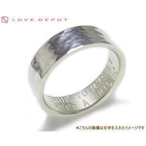 LOVE DEPOT ラヴディーポ シルバー950 リング DPR01-006A 文字2行代引き不可|b-ciao