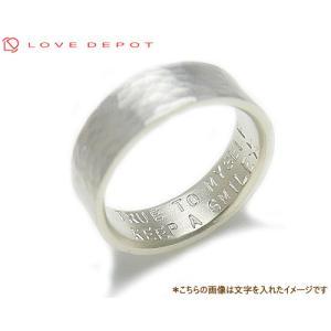 LOVE DEPOT ラヴディーポ シルバー950 リング DPR01-006B 文字2行代引き不可|b-ciao