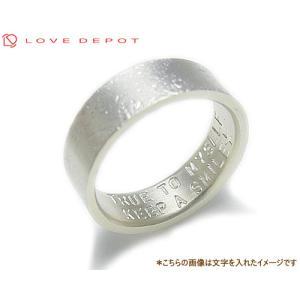 LOVE DEPOT ラヴディーポ シルバー950 リング DPR01-006C 文字2行代引き不可|b-ciao