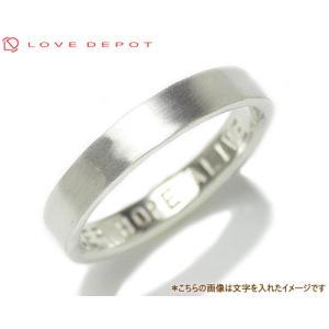 LOVE DEPOT ラヴディーポ シルバー950 リング DPR01-016 文字1行代引き不可|b-ciao