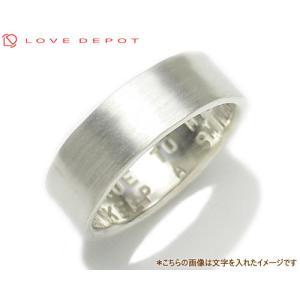 LOVE DEPOT ラヴディーポ シルバー950 リング DPR01-017 文字2行代引き不可|b-ciao