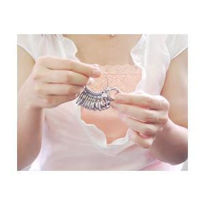 サイズゲージ MKS製 リングゲージ ミニリングゲージ 6号から20号に対応 ペアリングや指輪のサイズ選び 各指の号数の測定に|b-ciao
