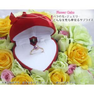 ハートのケースにお好きなジュエリーを入れて届ける バラ 薔薇 のフラワーケーキ 単品販売不可|b-ciao
