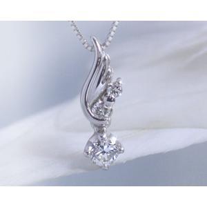 ダイヤモンド ネックレス レディース K10ホワイトゴールド 天使の羽根 4月誕生石 娘 彼女 妻 嫁 女性 誕生日プレゼント 20代 30代|b-ciao