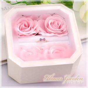 リング/指輪ケース リング 指輪 のプレゼントをロマンチックに演出する 薔薇/バラのウェディングケース|b-ciao