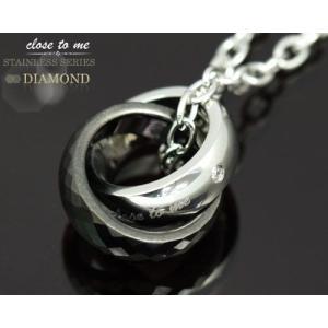 closetome stステンレス ダイヤモンド ネックレス メンズ 刻印無料 リング表面に4文字1行まで 文字入れ 名入れ イニシャル ランフィニ|b-ciao