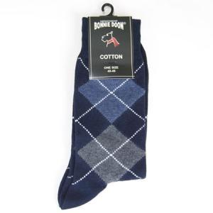 BONNIE DOON ボニードーン アーガイルソックス 靴下 argyle socks ARGYLE SOCKS  ネイビー|b-e-shop