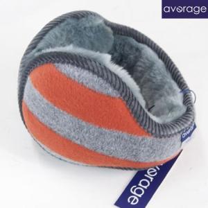 average アベレージ イヤーマフラー Ear Muffler  耳あて バックアーム イヤーウォーマー ボーダー BORDER オレンジ|b-e-shop