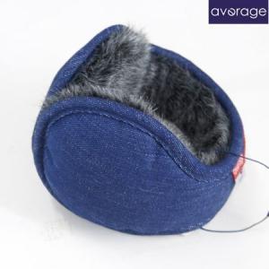 average アベレージ イヤーマフラー Ear Muffler  耳あて バックアーム イヤーウォーマー デニム DENIM パッチ|b-e-shop