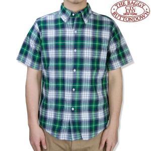 THE BAGGY バギー  半袖 マドラスチェック シャツ グリーンーベース ボタンダウン 半袖シャツ メンズ MADRAS S/S SHIRTS GREEN b-e-shop